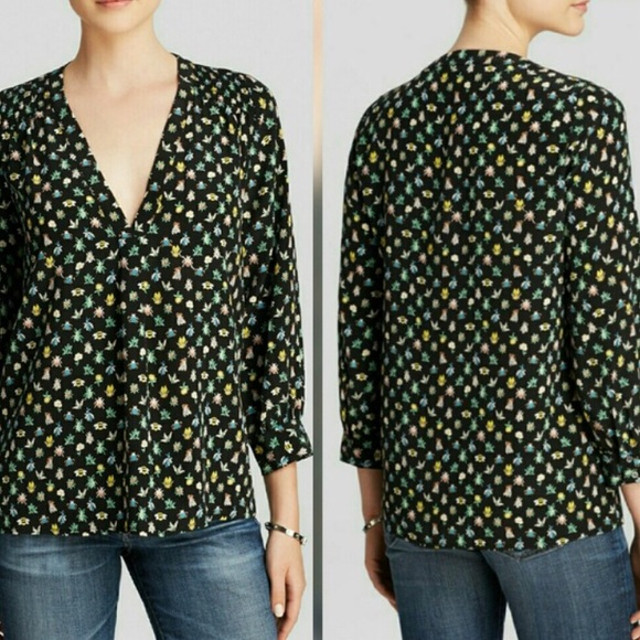 fee313c72a8f37 Joie Tops - Joie Aceline silk insect print blouse